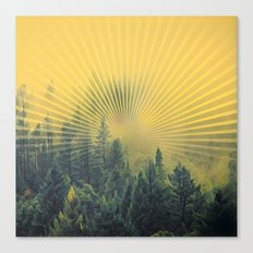 Golden Rays Forest #society6 Canvas Print