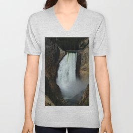 Yellowstone River Falls Unisex V-Neck