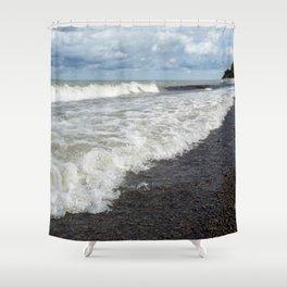Taking a Breath Shower Curtain