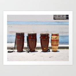 Latin Drum Art Print