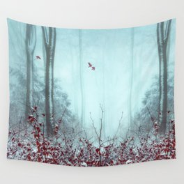 everything and more - winter forest Wall Tapestry