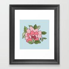 Antique Flower Framed Art Print