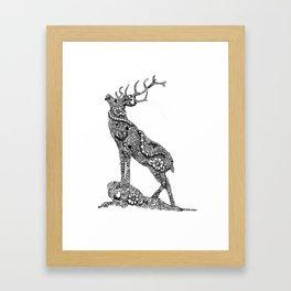 Stag Zentangle Framed Art Print