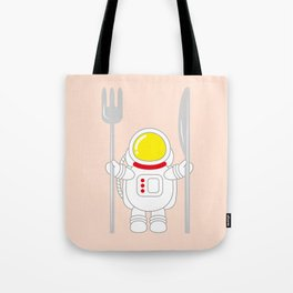 Space Odyssey   Astronaut Eats   Space Utensils   Galaxy Fork and Knife   pulps of wood Tote Bag