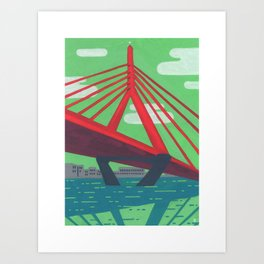 Zakim Bridge - Boston Landmarks Art Print