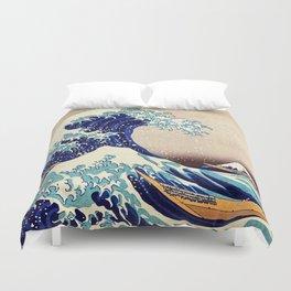 Katsushika Hokusai The Great Wave Off Kanagawa Duvet Cover