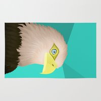 eagle Area & Throw Rugs featuring Eagle by Nir P
