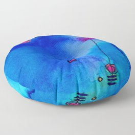 Magical Thinking No. 2C by Kathy Morton Stanion Floor Pillow