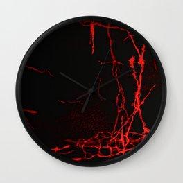 Horror -Dark Red- Wall Clock