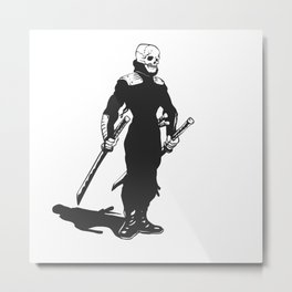 Ninja  skeleton  illustration Metal Print