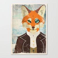 Foxy le dandy Canvas Print