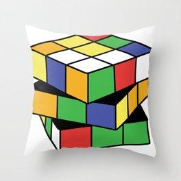 Retro Rubix Throw Pillow