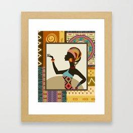 Afrocentric Chic V Framed Art Print