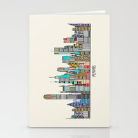 memphis Stationery Cards featuring Memphis city by bri.buckley