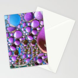 Green Purple and Blue Stationery Cards