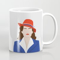 agent carter Mugs featuring Agent Carter Vector by Missiieey