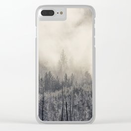 Steamy Forest -  Yellowstone National Park Clear iPhone Case