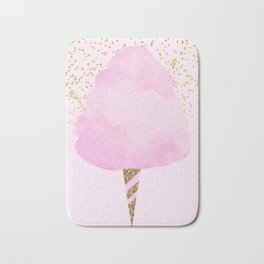 Pink & Gold Glitter Cotton Candy Bath Mat