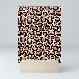 Animal print - pink copper Mini Art Print