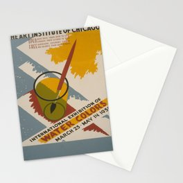 Vintage poster - International Exhibition of Water Colors Stationery Cards