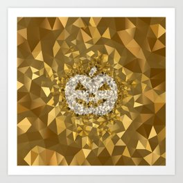 POLYNOID Pumpkin / Gold Edition Art Print