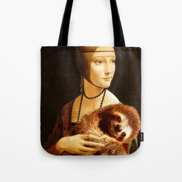 Lady With A Sloth Tote Bag