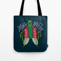 mcfly Tote Bags featuring Marty McFly by Chelsea Herrick