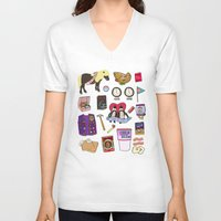 parks V-neck T-shirts featuring Parks & Recreation  by Shanti Draws
