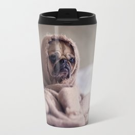 Snug pug in a rug Travel Mug