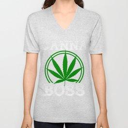 Funny CannaBoss cannabinoid Hemp Tee Unisex V-Neck