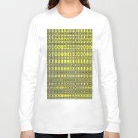 yellow pattern Long Sleeve T-shirts featuring Yellow fractal pattern. by Assiyam