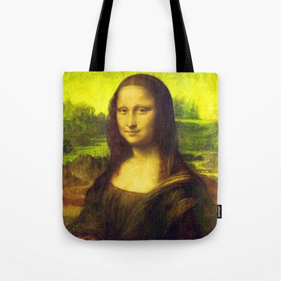 Mona Lisa's Haze (yellow) Tote Bag