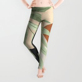 Branches and Leaves in an Abstraction 03 Leggings