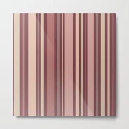 Striped Pattern (quiet shades of brown) Metal Print