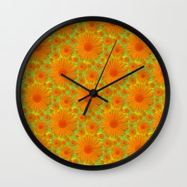 Daisies invasion Wall Clock
