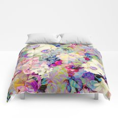 summery floral Comforters