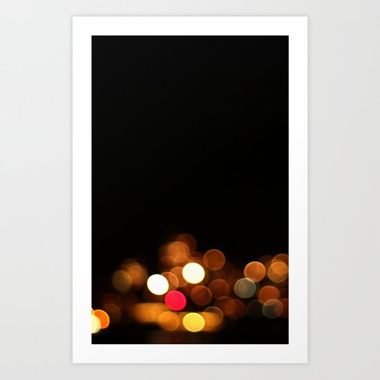 Bokeh Streetlights Art Print