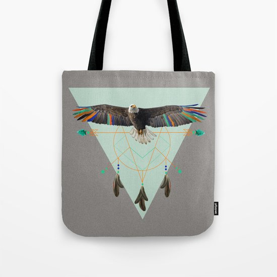 The indian eagle is watching over Po's dreamcatcher Tote Bag