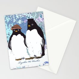 Together We Weather Penguin Art Stationery Cards