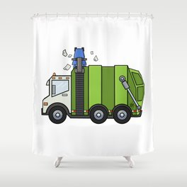 Recycle Truck Shower Curtain