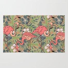 Pink flamingos. Rug