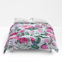 Pink Flamingos Comforters