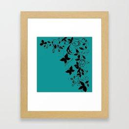 PTSD is Real: Floral Design Framed Art Print