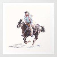 Bushranger Johnny Gilbert Art Print