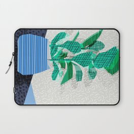 Ditz - house plant art neon pattern texture inky memphis style throwback 1980s 80s retro vintage  Laptop Sleeve