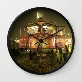 Sentinel Steam Bus by night  Wall Clock