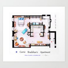 Carrie Bradshaw apartment from Sex and The City Art Print