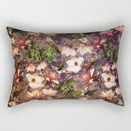 Magnolias and Hummingbirds Rectangular Pillow
