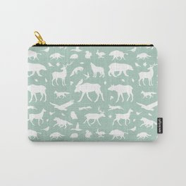 Mint forest animals Carry-All Pouch