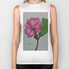 Japanese camellia, camellia, botanical art, flower, pink flower, Biker Tank